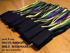 quick & easy, no-sew, multi-ribbon Bible bookmarks for mass production | kai ta hetera