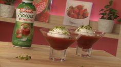 Recette - Ile flottante version Mon dessert de fraises Andros   750g