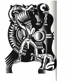 BORIS ARTZYBASHEFF, illustrations to Colum's ORPHEUS, 1930