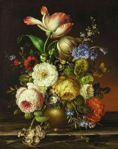 """Florian Grass - Still Life, Old Master"""" original painting"""