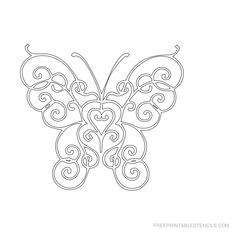 Free Printable Butterfly Stencil M