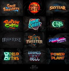 [For Hire] Design studio specalized in game logos & GUI : gameDevClassifieds Gfx Design, Typo Design, Game Logo Design, Graphic Design, Identity Design, Studio Logo, Design Studio, Typography Logo, Typography Design