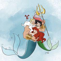 Princess Melody, Mermaid Princess, Mermaid Art, Princess Art, Disney Concept Art, Disney Fan Art, Disney Love, Disney Stuff, Disney Princess Drawings