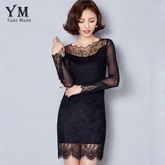 >>>Low Price GuaranteeYuooMuoo 2016 New High Quality Embroidery Women Black Dress Fashion Spring Autumn Lace Dress Plus Size Long Sleeve Korean DressYuooMuoo 2016 New High Quality Embroidery Women Black Dress Fashion Spring Autumn Lace Dress Plus Size Long Sleeve Korean Dresshigh quality product...Cleck Hot Deals >>> http://id680321597.cloudns.pointto.us/32606533265.html images