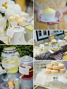 french garden party wedding charcoal and lace super cute bridal shower ideas