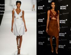 Chanel Iman In Kaufmanfranco - Montblanc Celebrates 90 Years Of The Iconic Meisterstuck. Re-tweet and favorite it here: https://twitter.com/MyFashBlog/status/451957390913441792/photo/1