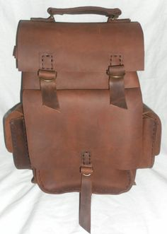 Leather back pack  /unisex handmade bag  /unique by leathercrafts1, $424.00