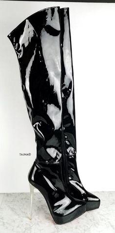 White Black Detail Knee High Boots – Tajna Club Knee High Platform Boots, High Heel Boots, Heeled Boots, Shoe Boots, Stiletto Boots, High Socks, Cream High Heels, Patent High Heels, White Thigh High Boots