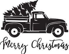 Tis the Season Vintage Truck with Tree Stencil mil plastic) Christmas Stencils, Christmas Vinyl, Christmas Truck, Christmas Shirts, Christmas Projects, Xmas, Christmas Time, Christmas Plaques, Christmas Deco