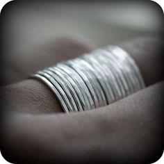 Stacking skinnies - 20 rings. $160,00, via Etsy.