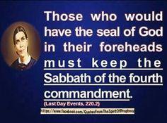 Seal of God & Sabbath....