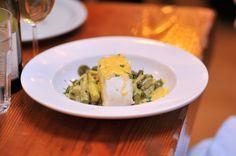 Montreal Eats: Au Pied de Cochon 2015; halibut with asparagus and Hollandaise