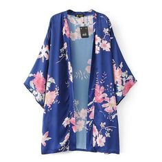Gender: WomenBrand Name: NYMPHClothing Length: LongModel Number: Length(cm): Three QuarterStyle: KimonoCollar: V-NeckFabric Type: BroadclothDeco Kimono Blouse, Long Blouse, Floral Blouse, Cardigans For Women, Coats For Women, Rockabilly, Loose Shirts, Batwing Sleeve, Red And Blue