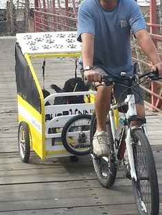 This is the greatest dog trailer! ! My dog can run or ride.  ♡♡♡ it.