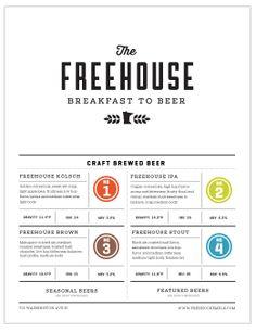 Freehouse Menu