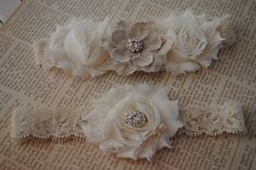 Burlap Wedding Garter, Cream Lace Garter, Cream and Burlap Garter- PRIORITY SHIPPING ONLY. $27.99, via Etsy.