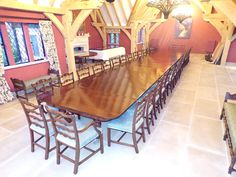 We specialise in large antique dining tables but at nearly long this was a monster!
