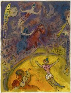 Illustration de la série : Cirque. Chagall, 1966-7.