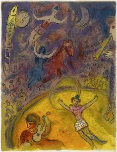 Illustration de la série : Cirque. Chagall, 1966-7.