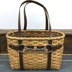 Basket with harness straps