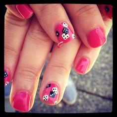 Red vegas nails
