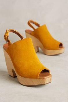 Rachel Comey Serra Slingbacks Yellow 6.5 Wedges #AnthroFave