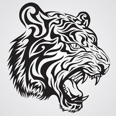 Tiger Face Tattoo--- to decorate the classroom (school mascot)*vector*