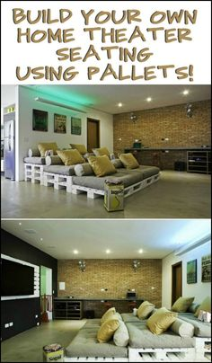 Build Your Own Home Theater Seating With Pallets!