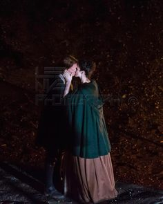 Sam and Cait filming a night scene, June 3rd 2015 - Credit to Lee Niven