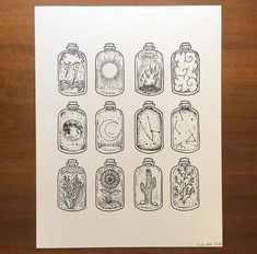 Landscapes in Jars Doodles - 40 Easy things to draw // // Bullet journal doodles, bullet journal drawing, things to draw, drawing, easy drawing Drawing Tips, Painting & Drawing, Drawing Tutorials, Drawing Ideas, Painting Canvas, Art Du Croquis, Arte Sketchbook, Sketchbook Ideas, Sketchbook Inspiration