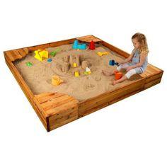 KidKraft Backyard Sandbox - Honey, Multicolor