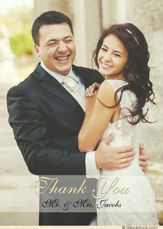 Capture your beautiful moment with elegant photo beloved wedding thank you cards! Featuring photo of you & your beloved as the main focus, soft underlay