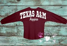 Check out this item in my Etsy shop https://www.etsy.com/listing/247150112/texas-am-oversized-jersey-you-choose