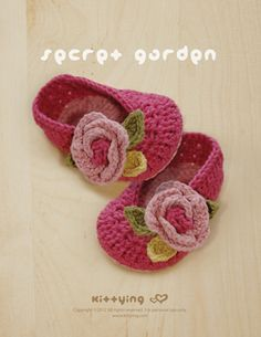 Secret Garden Ballerina Crochet PATTERN,Baby Ballerina Pattern, Baby Booties Pattern, Baby Crochet Pattern, Baby Crochet Shoe, Baby Sandals Pattern, Ballerina Crochet Pattern, Ballerina Flats Pattern, booties pattern, Crochet Pattern, crochet pdf pattern, Crochet Supplies, Flower Croche, Flower Crochet Applique, Flower Shoes Pattern, Garden Bootie PATTERNS, Leaf Crochet Pattern, pdf crochet pattern, pdf Flower Pattern, Rose by Kittying Crochet Pattern from Kittying.com / Mulu.us