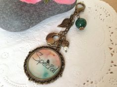 Inspiration Word - Special Bag Charm, Purse Charm, Zipper Pull Charm, Planner or Filofax Charm