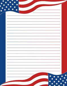 Free printable American flag stationery for x 11 paper. Available in JPG or PDF format and in lined and unlined versions. Stationary Printable Free, Printable Lined Paper, Free Printables, 4th Of July Wallpaper, Usa Wallpaper, Diy Stationery Paper, Flag Template, Borders For Paper, Mandala Coloring Pages