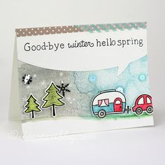 Lawn Fawn - Happy Trails + coordinating dies, Speech Bubble Border die, Smitty's ABCs _ Tiffany for Lawn Fawn Design Team