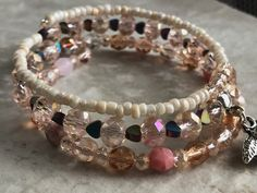 Organza Bags, Wire Wrapping, Iridescent, Jewelry Art, Seed Beads, Beaded Bracelets, Rose Gold, Charmed, Ship