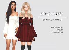 Lana CC Finds - melon-pixels: BOHO DRESS RECOLORS by...
