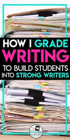 Grading Writing: My philosophy to help students become better writers. Helpful grading ideas and tips for the middle school English and high school English teacher. writing Grading Writing: My philosophy to help students become better writers 6th Grade Writing, Middle School Writing, Middle School English, Middle School Classroom, English Classroom, Art Classroom, Classroom Themes, 6th Grade English, Middle School Grammar