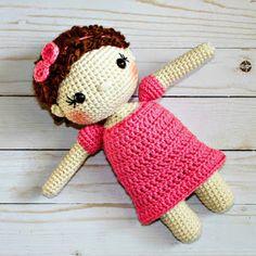 Free Crochet Doll Pattern- The Friendly Mae - The Friendly Red Fox