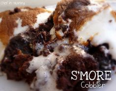 S'more Cobbler.  Oh man, was this ever tasty!  It didn't look pretty, but the taste made up for that!