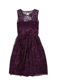 Alice and Olivia Plum Dress