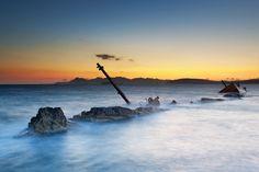 TRAVEL'IN GREECE I Old shipwreck at sunrise, Sarakiniko by George Koultouridis, #Milos, South Aegean, #Greece, #travelingreece