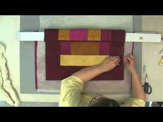 Sharon Schamber how to hand baste a quilt. This is GENIUS!!!!! It is amazing how EASY it is to machine quilt a quilt when it is properly basted.