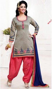 Chanderi Silk Dove Color Straight Cut Style Punjabi Patiyala Readymade Dresses   FH500476554 #punjabi , #patiyala, shindhi, #suits, #narrow, #dresses, #salwar, #kameez, #straight, #long, #heenastyle, #indian, #online, #shopping, #clothing, #womens, #girls, #style, #mode, #henna, #hina, #mehendi, #dupatta, #chudidar, @heenastyle , #pakistani, #readymade