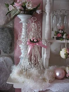 just change the color of the angels I have- brand new Christmas décor!
