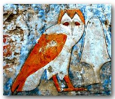 Detail of a painted scene at Deir el-Bahri. Temple of Queen Hatshepsut. Thebes-West. Egypt
