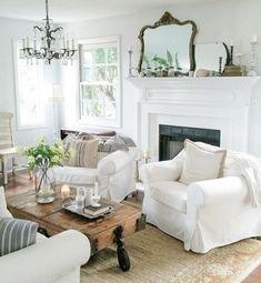 Decoracion De Salones Rusticos Ideas Espacios Acogedores Cottage Style HomesFarmhouse Living RoomsFarmhouse