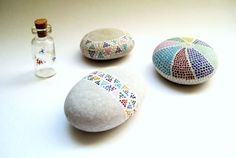 Painted Stones Spring Collection Original by MalenaValcarcel